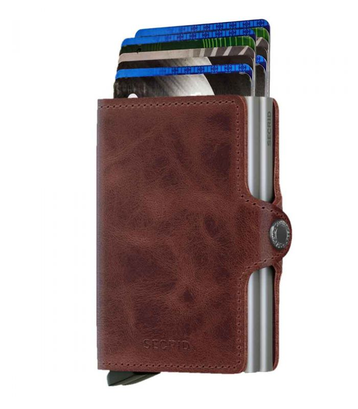 SECRID - Secrid twin wallet leather vintage brown